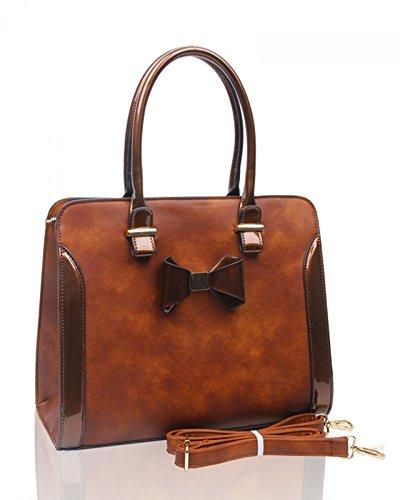 ladies-womens-fashion-designer-quality-patent-bow-tote-bag-faux-leather-shinny-handbag-with-strap-cw