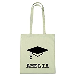 JOllify Cotton Bag Personalised Graduation Gift for Amelia BHD5117, Absolventenhut - Studentenhut - Abschlusshut