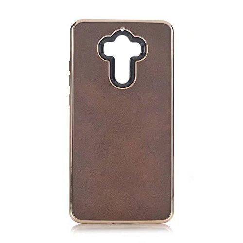 EKINHUI Case Cover Ultra Thin und leichte Retro verrückte Pferd Leder Skin Dual Layer PC + TPU Hybrid Shell Cover Case [Shockproof] für Huawei Mate 9 ( Color : Blue ) Brown