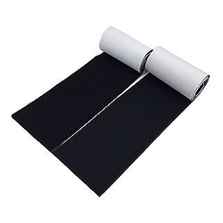 arlent 100mm breit 1Meter lang Selbstklebende Haken- und-Loop Streifen Set mit Sekundenkleber wieder Klettverschluss Nylon Stil Stoff Klettverschluss Magic Tape Schwarz