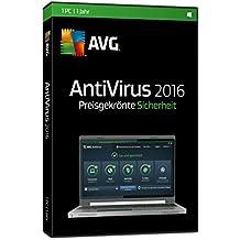 AVG AntiVirus 2016 1-Platz [CD-ROM] Windows 10 / Windows 8 / Windows 7 / Windows Vista / Windows XP SP3 (DVD-Box)