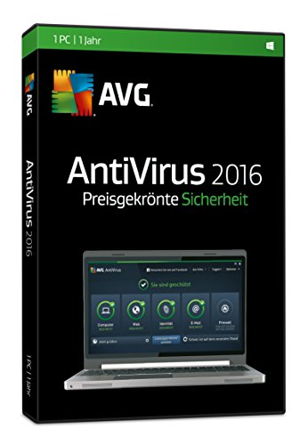 AVG AntiVirus 2016 1-Platz [CD-ROM] Windows 10 / Windows 8 / Windows 7 / Windows Vista / Windows XP SP3 (DVD-Box)