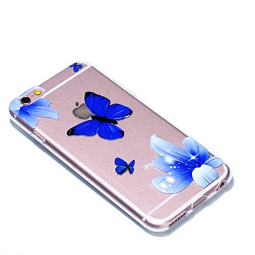 iPhone 6 6S Hülle, SATURCASE Schönes Muster Bas-relief Ultra Dünn Weich TPU Gel Silikon Schützend Zurück Case Cover Handy Tasche Schutzhülle Handyhülle Hülle für for Apple iPhone 6 6S (4.7 inch) (Must Muster-10
