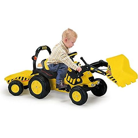 Injusa - Toony, tractor con excavadora, remolque y pedales (410)