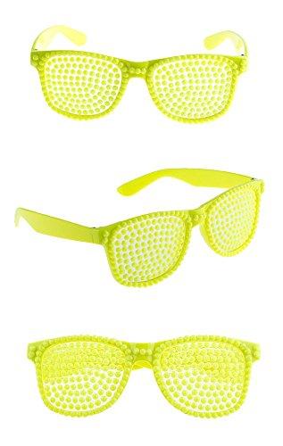 Neon Party Brille zum Kostüm Rockstar Popstar im -