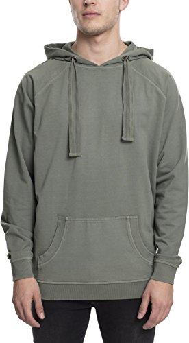 Urban Classics TB1776 Herren Kapuzenpullover Garment Washed Terry Hoody Grün (Olive 176), Large Terry Hooded Top