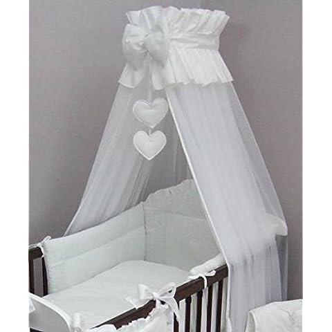Luxury Baby-Culla/letto a baldacchino Zanzariera 480 cm, solo a forma di cuore, colore: bianco