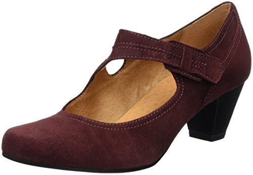 Caprice 24401, Mary Jane Donna, Rosso (Bordeaux Suede 548), 38.5 EU