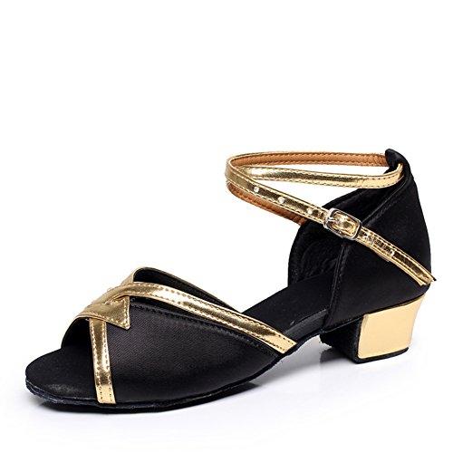 scarpe da ballo latino per bambini/Ragazze da ballo paillettes scarpe/Scarpe inferiori molli/ dancing shoes E