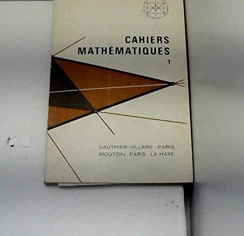 Cahiers Mathématiques 1 : Exercices corrigés sur les structures élémentaires (Mathématiques et Sciences de l'homme VII) par J. Bentz