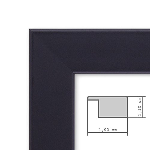 15er set bilderrahmen modern schwarz massivholz 10x15 bis. Black Bedroom Furniture Sets. Home Design Ideas