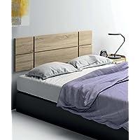 Cabezal cama de matrimonio de gran grosor 32MM, color cambrian con herrajes para colgar incluidos de dormitorio. 150cm ancho x grueso 32MM x 50cm altura