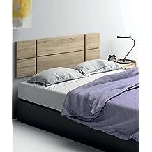 cabezal cama de matrimonio de gran grosor 32mm color cambrian con herrajes para colgar incluidos