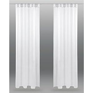 Bestlivings Schlaufenschal Noella, transparenter Dekoschal Voile b 140x l 245 cm 2er Pack, Wohnaccessoire in vielen erhältlich (weiß - reinweiß/ohne Raffhalter)