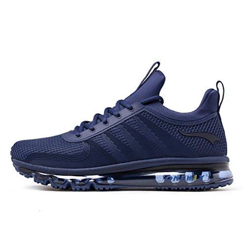 ONEMIX Air Uomo Scarpe da Corsa Sportive Basse Running Sport Sneaker Blue 45