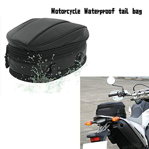 Krtopo 7.5-10L Borsa Sella Moto Coda Del Motociclo Extensible Regolazione Capacità Sacchetto Dei Bagagli Sacchetto Dell'Unità Universale
