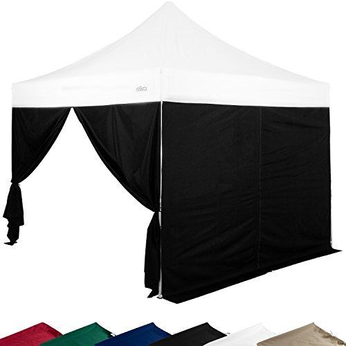 STILISTA 2x Seitenteile für 3x3 m Pavillon MIT Reißverschluss, Farbwahl, wasserabweisend, versiegelte Nähte (Burgund, Klettband)