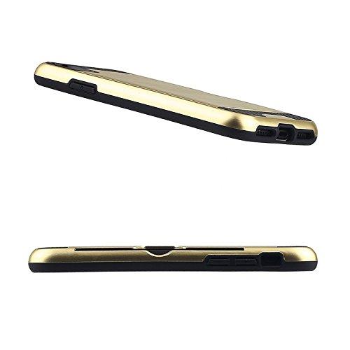 Apple iPhone X 10 Hülle ZaPro® Deutschland Qualitätsgeprüft – mit einem einzigartigen Fach zum Verstauen von Karten | Simpel & Elegant | Perfekter Grip durch Rutschfestes Design | Schmutzabweisend | ( Gold