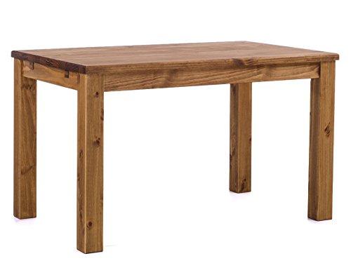 Brasilmöbel® Tisch 120x73 Rio Classiko - Brasil Pinie Massivholz - Größe & Farbe wählbar - Esszimmertisch Küchentisch Holztisch Echtholz - Esstisch ausziehbar vorgerichtet für Ansteckplatten