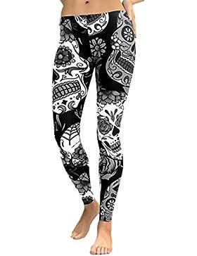 Nuevo!! Pantalones Yoga Mujeres,Pantalones De Yoga De Cintura Alta para Mujeres Running Fitness Leggings Pants...