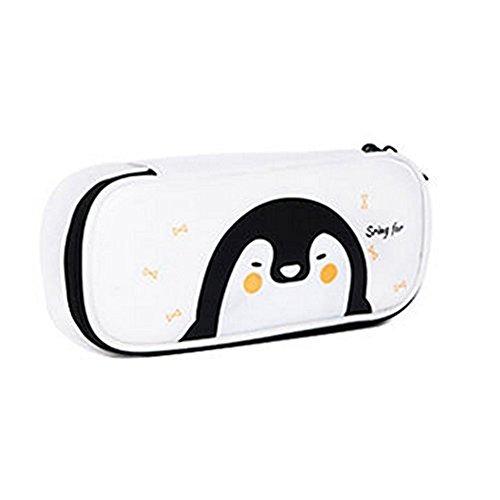 Cosanter Pencil Case Holder cute Pengun modello similpelle con cerniera pelle per occhiali da trucco per ragazzine