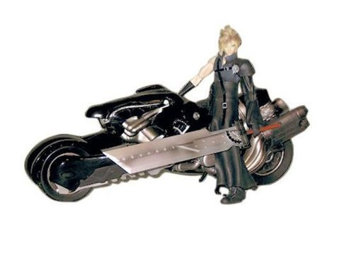 Final Fantasy Advent Children Cloud Strife & Fenrir Motorcycle Action Figure Deluxe Set
