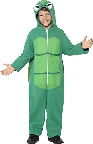 Halloween Kostüm 4 Alte Großbritannien Jahre (Smiffys Kinder Unisex Schildkröten Kostüm, All-in-One mit Kapuze und EVA Panzer, Größe: S,)