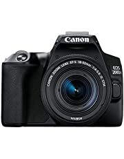 Canon EOS 200D II 24.1MP Digital SLR Camera + EF-S 18-55mm is STM Lens + EF-S 55-250mm is STM Lens (Black)