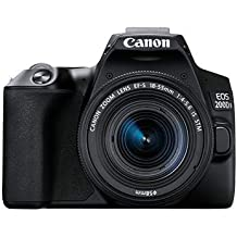 Canon EOS 200D II 24.1MP Digital SLR Camera + EF-S 18-55mm is STM Lens + EF-S 55-250mm is STM Lens (Black)