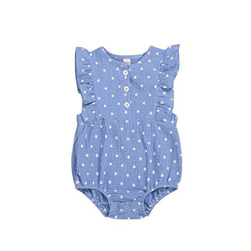 mpler Kleid, Neugeborene Kinder Baby Mädchen Kleidung 4. Juli Sterne drucken Strampler Bodysuit Outfits Stramplerset Romper Babykleidung Babystrampler ()