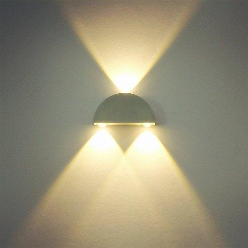 Deckey Lampada Da Parete Applique 3 LED Muro Corridoio Illuminazione Decorativa Interno 3W Luce Bianca