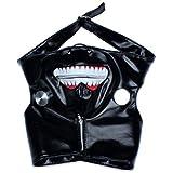 Edealing 1PCS Cosplay Tokyo Ghoul Kaneki Ken Zipper réglable en cuir PU masque d'Halloween Prop