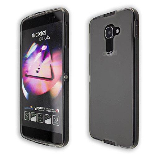 caseroxx TPU-Hülle Alcatel Idol 4s, Hülle für Smartphone (Handyhülle in schwarz-transparent)