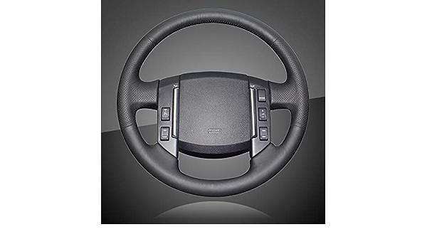 JIRENSHU Coprivolante per Auto in Pelle Nera per Land Rover Freelander 2 2007 2008 2009 2010 2011 2012-2018