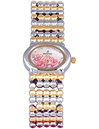 WESTAR Analog Off-White Dial Women's Watch-2594GPN112