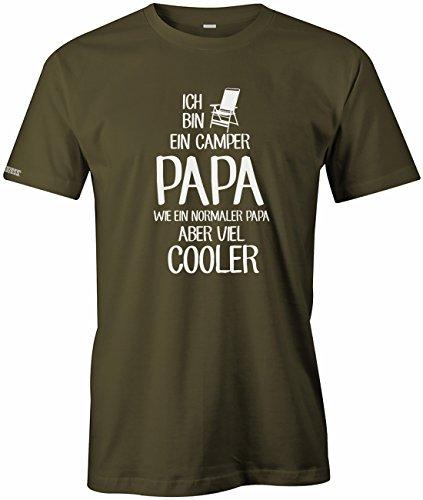 Ich bin ein Camper Papa - Wie ein normaler Papa aber viel cooler - Herren T-Shirt in Army by Jayess Gr. L