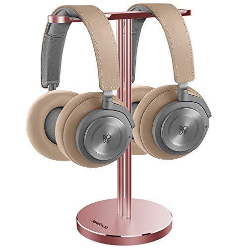 Jokitech Premium Aluminiumlegierung Super Steady Doppel-Kopfhörer-Ständer RoseGold