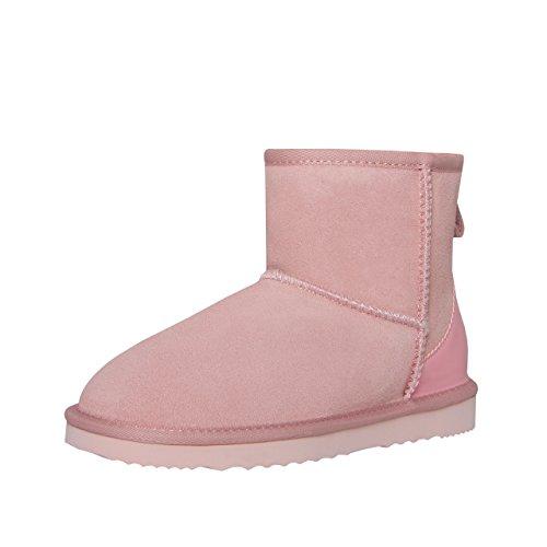 SKUTARI Wildleder Damen Winter Boots | Extra Weich & Warm Gefüttert | Schlupf-Stiefel mit Stabile Sohle | Pailletten Glitzer Meliert Schlangen-Look (36 EU, Pink) (Schlange Designer-schuhe)