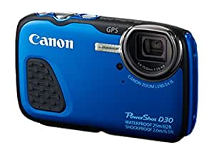 Canon 9337B011 PowerShot D30 kompakte Systemkamera (12,1 Megapixel) blau