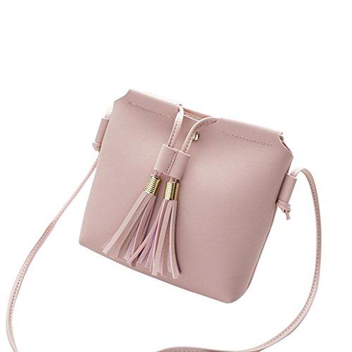 Manadlian Mini Quaste Crossbody Tasche Handtaschen 2018 Neue Damen Mini Handytasche Mode Damen Quaste Crossbody Tasche Schultertasche Umhängetasche Münztüte (Rosa) (Tasche Mode Damen Neue)