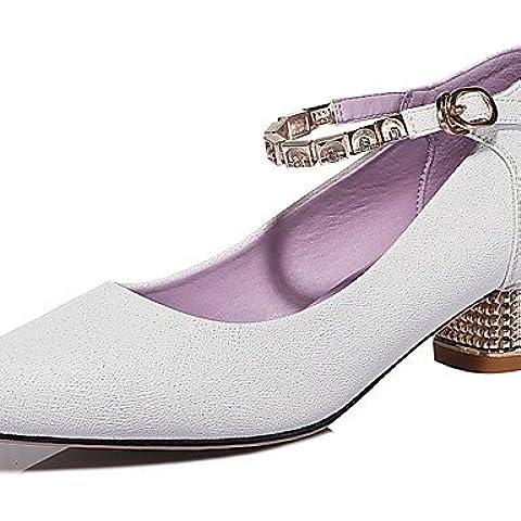 GGX/ primavera / verano / otoño oficina talones talones zapatos de cuero sintético de la mujer&carrera / vestido de tacón bajo que otros , white-us8.5 / eu39 / uk6.5 / cn40 , white-us8.5 / eu39 / uk6.5 / cn40