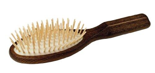Redecker 730009 Brosse à cheveux ovale à manche en bois d'érable traité thermiquement