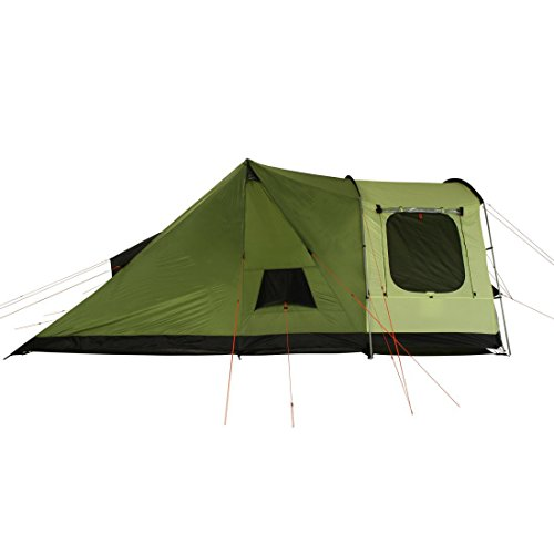 415ZYUcNLeL. SS500  - 10T Outdoor Equipment Unisex's Tropico 4 Tunnel Tent, Green, One Size/4 Persons