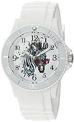 eWatchFactory Womens Animal Planet Quartz Plastic Sport Watch, Color:White (Model: WDC000045)