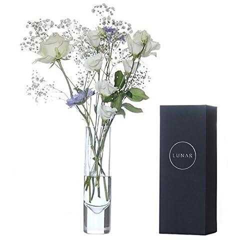 Glass Flower Vase by Lunar Oceans, Anniversary Wedding Couple Gift