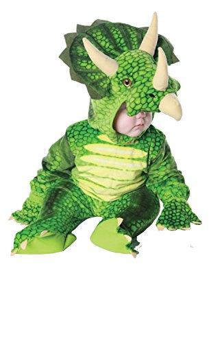 Underwraps - Dino Triceratops plüsch Babykostüm - Größe: 6-12 Monate ()