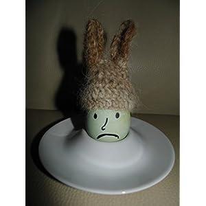 5 Eierwärmer mit Ohren, aus 100% Alpaka Single Garn, alles Unikate, auch aus Polyester erhältlich