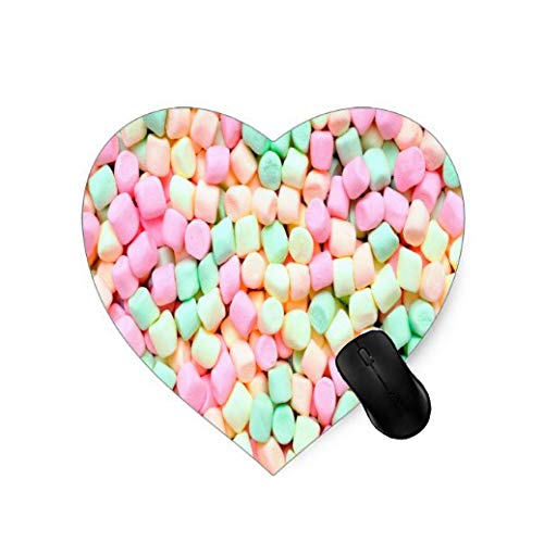 Gaming Heart-shaped Mauspad Pink Blau Gelb Marshmallow Design für Desktop und Laptop 1 Pack