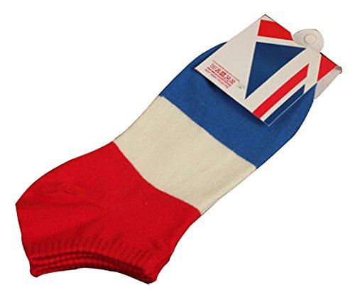 Lot de 2 Flag chaussettes en coton chaussettes pour hommes France
