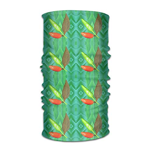 JIILWKIE Multifunctional Headwear Block Repeat Headband Fashion Headscarf Sweatband for ()
